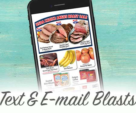 Text and E-mail blasts